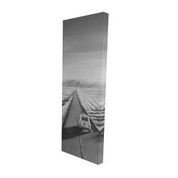 Toile 16 x 48 - 3D - Voiture sur la route