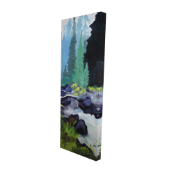Canvas 16 x 48 - 3D - Beautiful waterfall