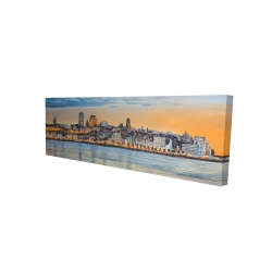 Canvas 16 x 48 - 3D - Skyline of quebec city