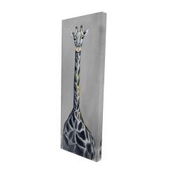 Canvas 16 x 48 - 3D - Steel blue giraffe