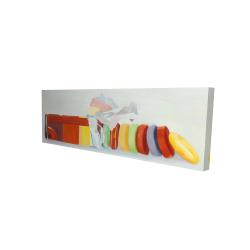 Canvas 16 x 48 - 3D - Colorful pastilles