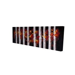 Toile 16 x 48 - 3D - Arbres et feuilles d'automne