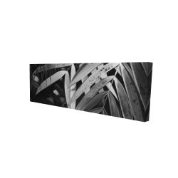 Canvas 16 x 48 - 3D - Monochrome tropicals leaves