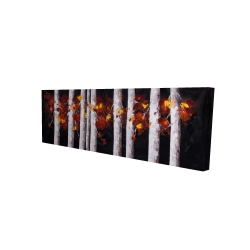 Canvas 16 x 48 - 3D - White trees with orange leaves