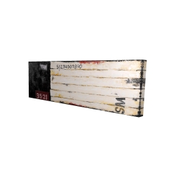 Canvas 16 x 48 - 3D - Wood looking art with numbers