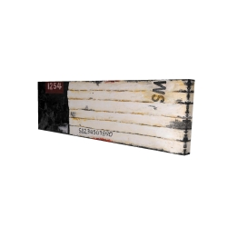 Canvas 16 x 48 - 3D - Wooden pallets looking art with numbers