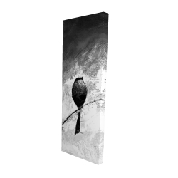 Canvas 16 x 48 - 3D - Four birds perched