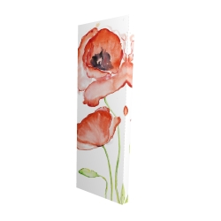 Canvas 16 x 48 - 3D - Watercolor poppies