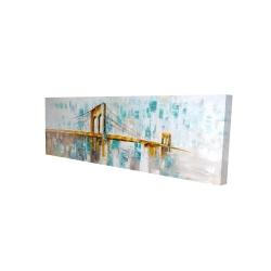 Canvas 16 x 48 - 3D - Gold brooklyn bridge