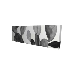 Canvas 16 x 48 - 3D - Grayscale cactus