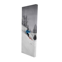 Canvas 16 x 48 - 3D - Man skiing in mountain