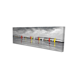 Canvas 16 x 48 - 3D - Sailboats on the lake