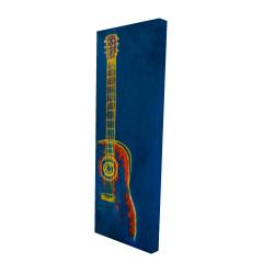 Canvas 16 x 48 - 3D - Modern blue abstract guitar