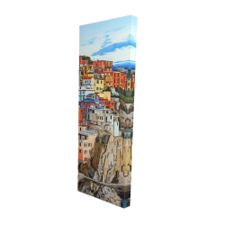 Canvas 16 x 48 - 3D - View of manarola in italy