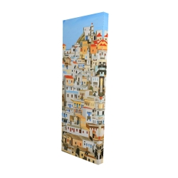 Canvas 16 x 48 - 3D - Small houses in greece