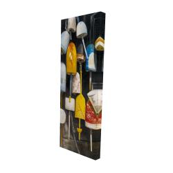 Canvas 16 x 48 - 3D - Old lobster buoys
