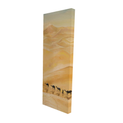 Canvas 16 x 48 - 3D - Walking in the desert