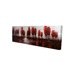 Canvas 16 x 48 - 3D - Red trees
