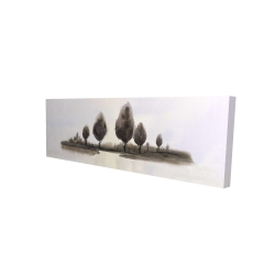 Canvas 16 x 48 - 3D - Abstract landscape of trees
