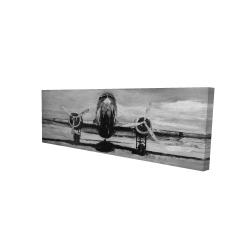 Canvas 16 x 48 - 3D - Grayscale plane