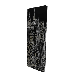 Canvas 16 x 48 - 3D - Illustrative city towers