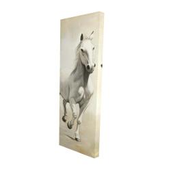 Canvas 16 x 48 - 3D - Gallant white horse