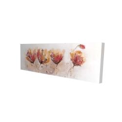 Canvas 16 x 48 - 3D - Four little flowers