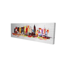 Canvas 16 x 48 - 3D - City in bright colors