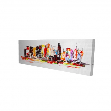 City in bright colors
