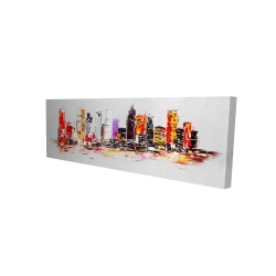Canvas 16 x 48 - 3D - Abstract city in bright colors