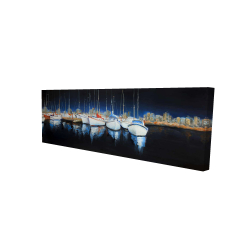 Canvas 16 x 48 - 3D - Evening at the marina