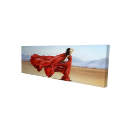 Canvas 16 x 48 - 3D - Red dress in the desert