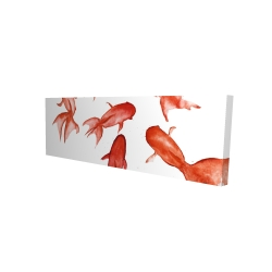 Canvas 16 x 48 - 3D - Red fishes