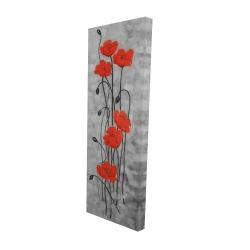 Canvas 16 x 48 - 3D - Long stem flowers