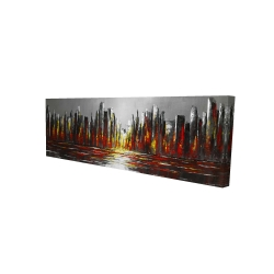 Canvas 16 x 48 - 3D - Abstract red skyline