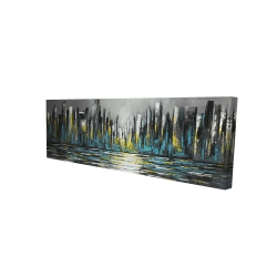 Canvas 16 x 48 - 3D - Abstract blue skyline