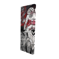 Canvas 16 x 48 - 3D - Professional red cyclist