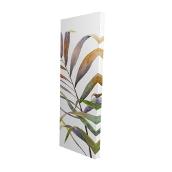 Canvas 16 x 48 - 3D - Watercolor tropical palm leaves