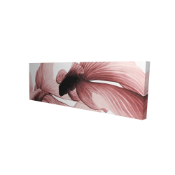 Canvas 16 x 48 - 3D - Two red betta