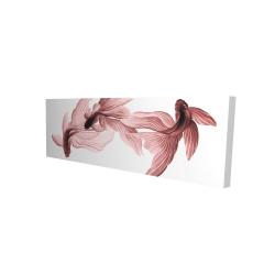 Canvas 16 x 48 - 3D - Red betta fish