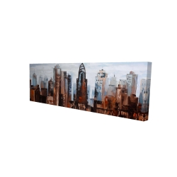 Canvas 16 x 48 - 3D - Sullen day in the city