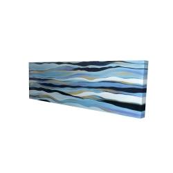 Canvas 16 x 48 - 3D - Blue sweep