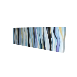 Toile 16 x 48 - 3D - Humeur bleu