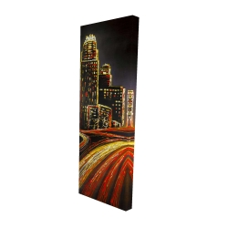 Canvas 16 x 48 - 3D - Lively city by night