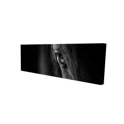 Canvas 16 x 48 - 3D - Black horse