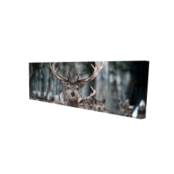 Canvas 16 x 48 - 3D - Stags