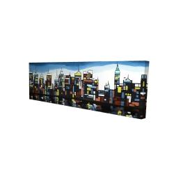 Canvas 16 x 48 - 3D - Colorful skyline