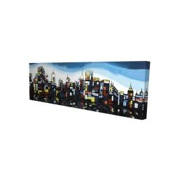 Canvas 16 x 48 - 3D - Colorful city
