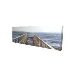 Canvas 16 x 48 - 3D - Relaxing beach