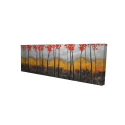 Canvas 16 x 48 - 3D - Abstract autumn trees